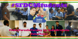 Noida Salesforce Community at IndiaDreamin venue for celebrating #SalesforceSaturday & support #SFDC4Students